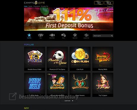 Cryptoslots Casino Best Bitcoin Casino Directory